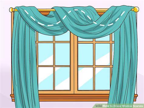 3 ways to drape window scarves wikihow - How To Drape Window Scarves