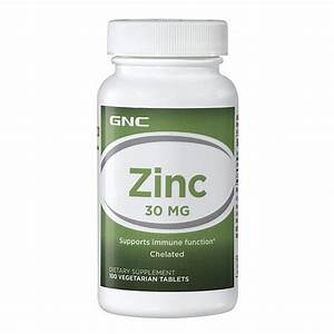 Buy Gnc Zinc 30 Mg 100 Vegetarian Tablets Online India