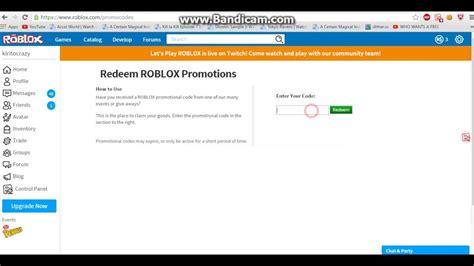 Roblox Promocode Still Works 2017 March