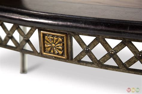 wood top metal base coffee table sanchez traditional coffee table w wood top decorative