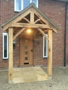 hand crafted oak porch canopy fitting service  ebay