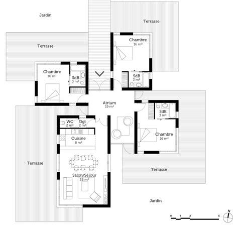 plan maison moderne 5 chambres plan de maison moderne toit plat gratuit maison design