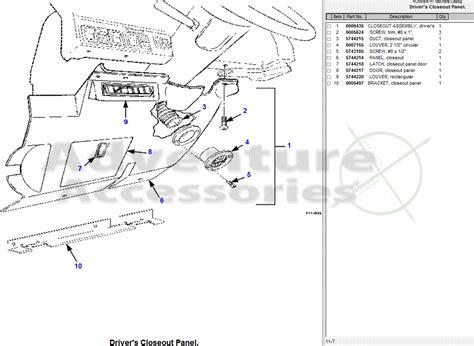Hummer General Parts Drawings