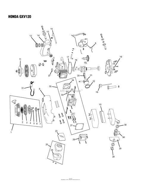 Honda Parts by Oregon Honda Parts Diagram For Honda Gxv120