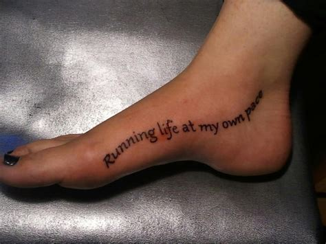 running quotes tattoos gallery quotesgram