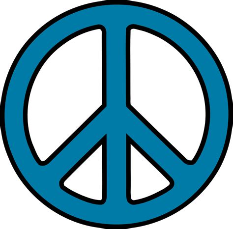 Peace Clipart Peace Sign Clip Black And White Clipart Panda Free