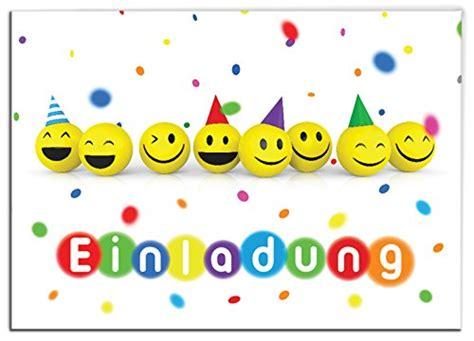 kindergeburtstag 12 jahre ᐅ 12 einladungskarten zum kindergeburtstag quot lustige emoji smiley quot f 252 r m 228 dchen und jungen