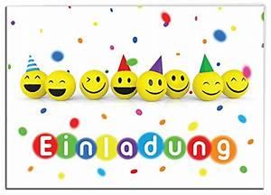 Kindergeburtstag 12 Jährige Jungs : 12 einladungskarten zum kindergeburtstag lustige emoji smiley f r m dchen und jungen ~ Frokenaadalensverden.com Haus und Dekorationen