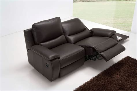 2 Seater Recliner Sofa Leather Catosferanet