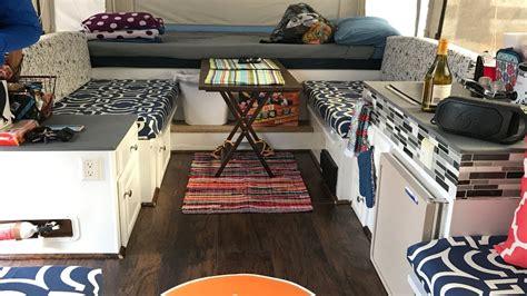 renovating  jayco  pop  camper trailer youtube