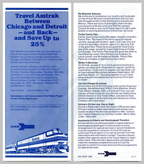 Carte blanche and american express were next in line. Chicago-Detroit service discount fares flyer, 1977 ...