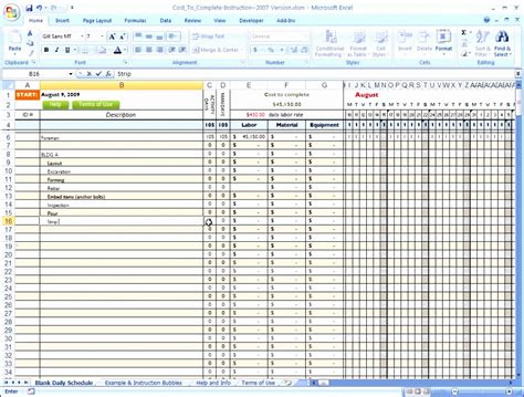 Project Schedule Template 10 Construction Project Schedule Template Excel Free