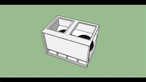 Dual 18 U0026quot  4th Order Bandpass Sub-woofer Box Enclosure