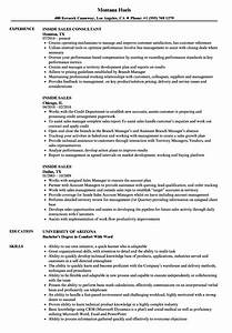 generous internal sales resume examples pictures With inside sales resume sample