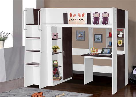 loft frame boston loft bunk with single bed desk wardrobe