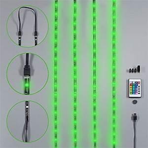Led Lichtschlauch Farbwechsel : 14 95 40 tv led beleuchtung led stripe led band dimmbar selbstklebend 2m 48x rgb usb ~ Buech-reservation.com Haus und Dekorationen