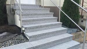 Treppe Hauseingang Kosten : au entreppe aus granit beton naturstein waschbeton ~ Lizthompson.info Haus und Dekorationen