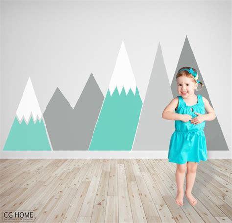 Kinderzimmer Deko Berge by Geometrische Dekoration Kinderzimmer Berg Als Erste