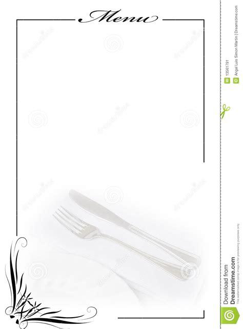 menu card  white stock image image  dinner catering
