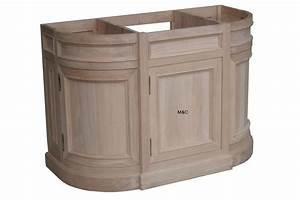 Meuble Salle De Bain Peu Profond : meuble de salle bain en chne arrondi ~ Edinachiropracticcenter.com Idées de Décoration
