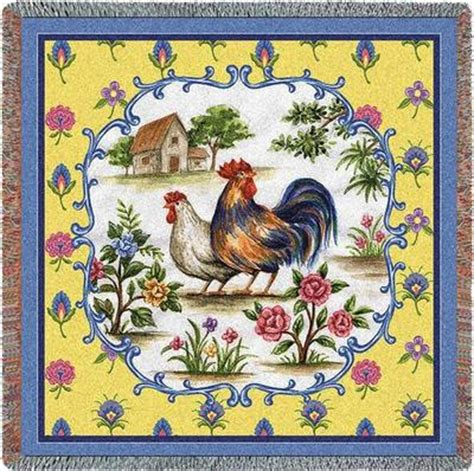 rooster ls chicken and rooster tapestry throw blankets s throws