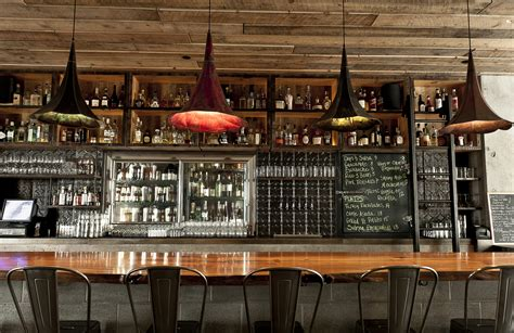restaurant bar design ideas the water cantina in seattle uses gramophone Rustic