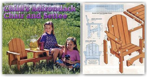 childrens adirondack chair plans woodarchivist