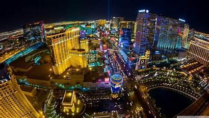 Vegas Las Aerial 4k Desktop Skyline Night