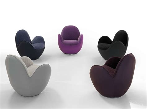 fauteuil pivotant en tissu avec accoudoirs aircell by