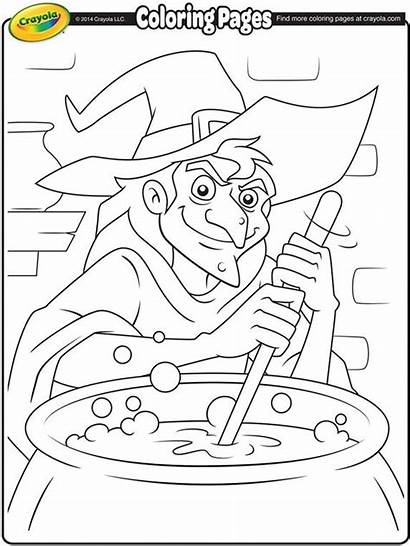 Witch Crayola Coloring Halloween Pages Cauldron Witches