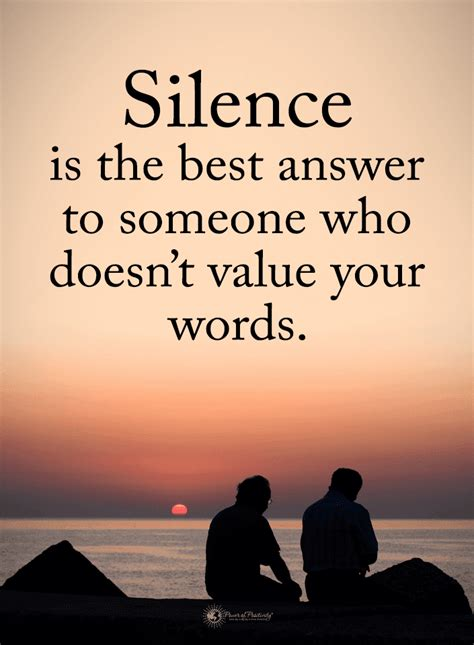 silence quotes silence    answer