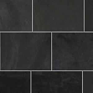 Black slate tile texture seamless 21166