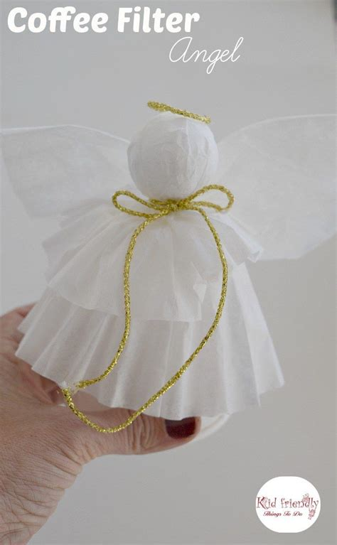 simple coffee filter angel christmas tree topper craft