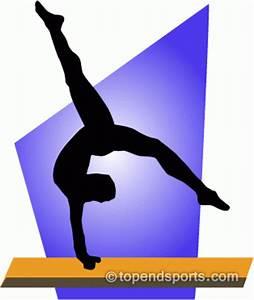 Gymnast Balance Beam Clipart