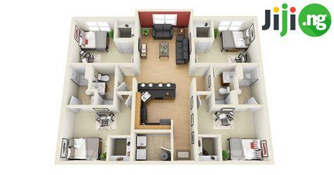 4-bedroom Bungalow House Plans In Nigeria