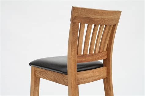 oak dining chairs leather chairs brown