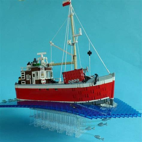 Lego Fishing Boat by Flickr Lego Boat Moc Lego Lego