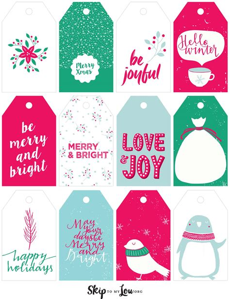 Printable Christmas Gift Tags  Skip To My Lou