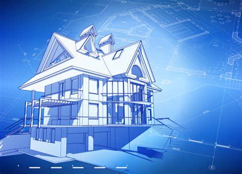 House Building Blueprint Design Vector 09
