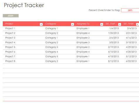 project tracking template excel free project management tracking templates excelide