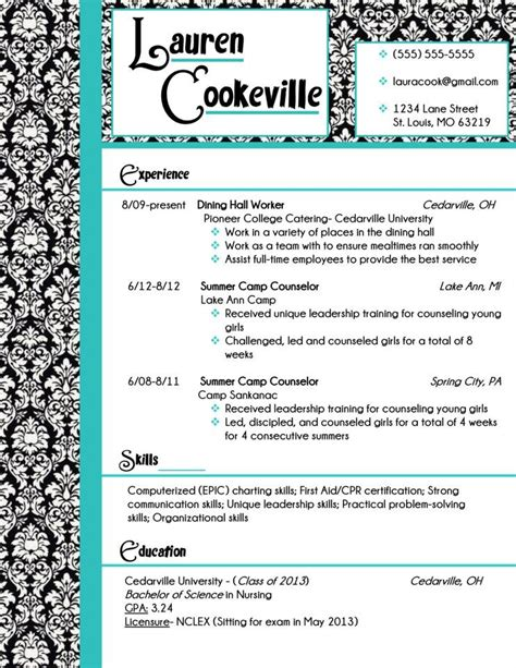 Resume Template Buy by My Resume Design In Damask And Turquoise Buy The Template