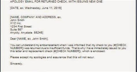 sample apology letter  cheque bounce