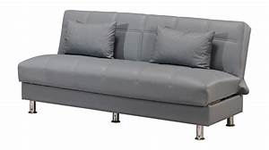 Eco rest zen gray leatherette sofa by casamode for Zen sofa bed