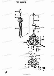 Suzuki Motorcycle 1972 Oem Parts Diagram For Carburetor
