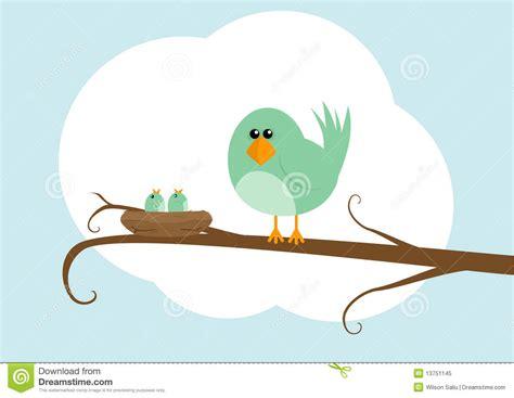 Cartoon Bird With Nest Stock Illustration. Image Of Stood