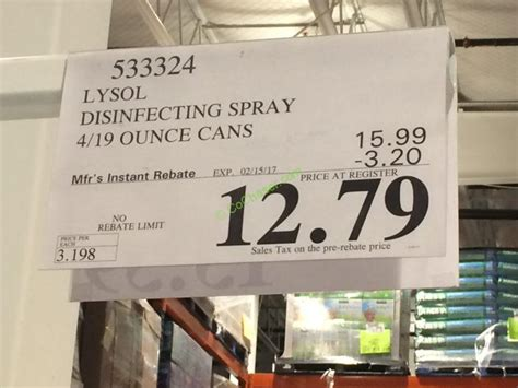 Lysol Disinfectant Spray 4/19 oz Cans – CostcoChaser