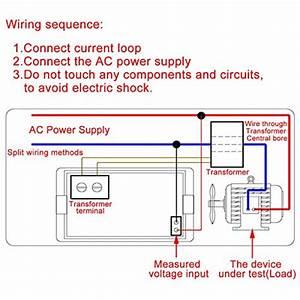 Drok 100139 Small Digital Voltage Ampere Multimeter 110v