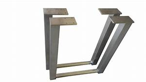Edelstahlplatte Nach Maß : 2er set design tischkufen tischbeine edelstahl tischf e tischgestell h he 720 stahl moor ~ Markanthonyermac.com Haus und Dekorationen