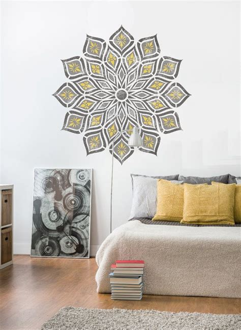 kanpur mandala stencil indian boho reusable wall stencil