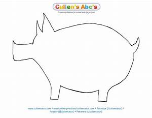 Pin by cullen39s abc39s on down on the farm diy preschool for Pig template for preschoolers